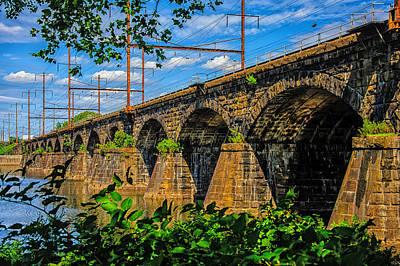 Railroad Bridge Photograph -  Trenton Railroad Bridge by Louis Dallara