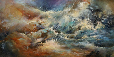 Storms Painting - ' Turmoil ' by Michael Lang