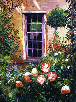 Architectural Painting -  Tuscan Villa Garden by David Lloyd Glover