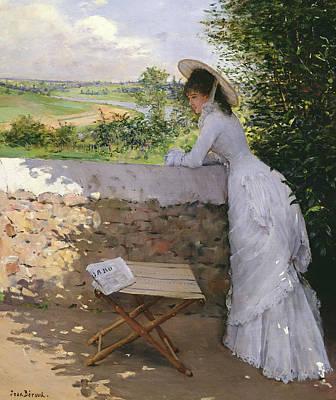 Daydream Painting -  Un Figaro De Reve  by Jean Beraud