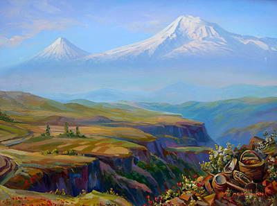 Canyon Painting -  Vayots Dzor Armenia by Meruzhan Khachatryan