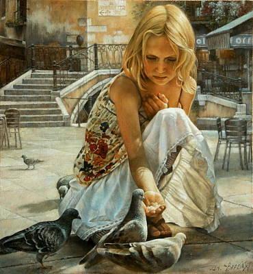Venetian Doves Original by Arthur Braginsky