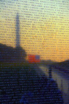 Vietnam Veterans Memorial Print by Mitch Cat