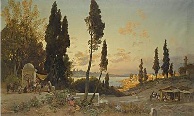Bosphorus Painting -  View Across The Bosphorus Constantinople by Celestial Images