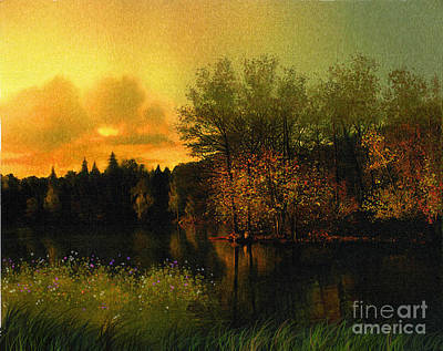Warm Waters Print by Robert Foster