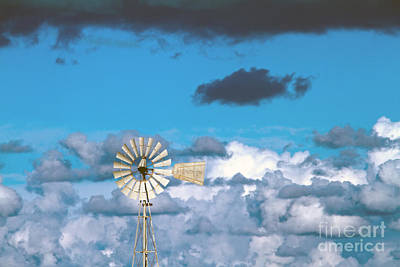 Water Windmill Print by Stelios Kleanthous