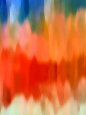 Abstract Forms Painting -  Watercolor 4 by Amy Vangsgard