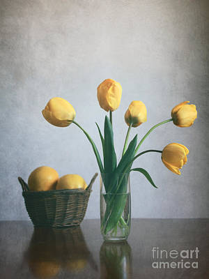 Baskets Photograph -  Yellow Tulips by Diana Kraleva