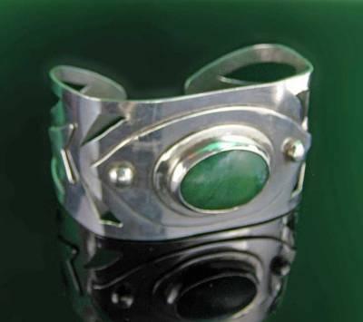 Sterling Silver Bracelet Jewelry - 0007 Deco Cuff by Dianne Brooks