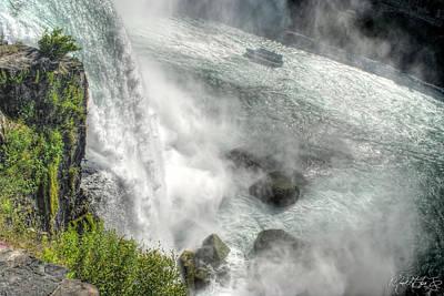 Falls Photograph - 003 Niagara Falls Misty Blue Series by Michael Frank Jr