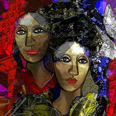 Digi-art Digital Art - 031 - A Certain Smile by Irmgard Schoendorf Welch
