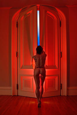 0342 Beyond The Red Doors Print by Chris Maher