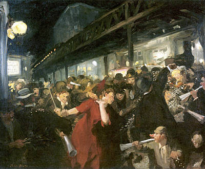 Election Night Print by John Sloan