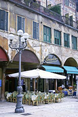 0507 Verona Cafe II Print by Steve Sturgill