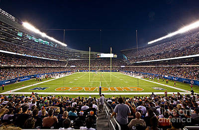 0588 Soldier Field Chicago Print by Steve Sturgill