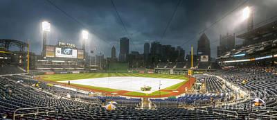 0646 Rain Delay - Pnc Park Pittsburgh Print by Steve Sturgill