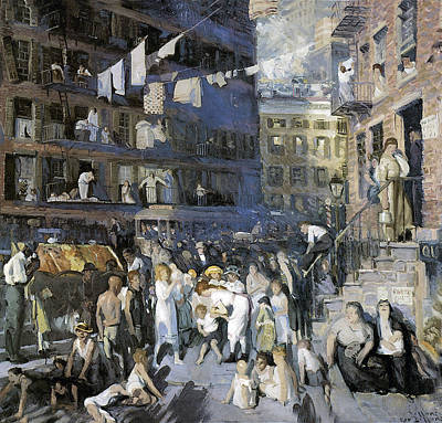 Cliff Dwellers New York City Print by George Wesley Bellows