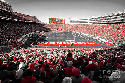 Athletic Sport Photograph - 0811 Camp Randall Stadium by Steve Sturgill