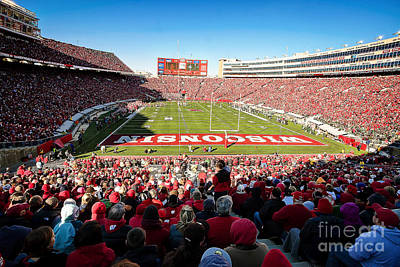Athletic Sport Photograph - 0814 Camp Randall Stadium by Steve Sturgill