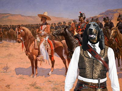 Coonhound Painting -  Black And Tan Coonhound Art Canvas Print by Sandra Sij