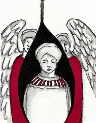Angel Painting -  Keepers No 4 by Milliande Demetriou