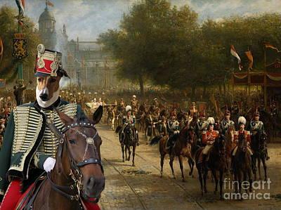 Greyhound Painting -  Magyar Agar - Hungarian Greyhound Art Canvas Print by Sandra Sij