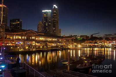 Miami's Bayside Market Place Print by Rene Triay Photography
