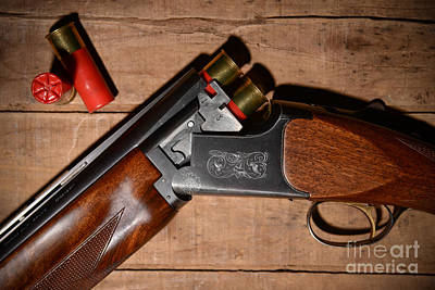 12 Gauge Over And Under Shotgun Print by Jt PhotoDesign