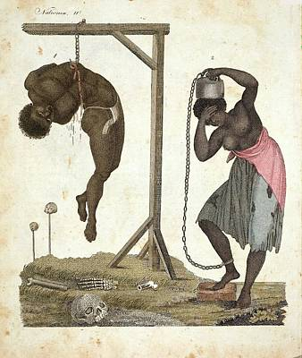 1810 Punishment Of Slaves Engraving Print by Paul D Stewart