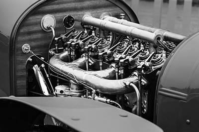 Mercedes Photograph - 1910 Benz 22-80 Prinz Heinrich Renn Wagen Engine by Jill Reger