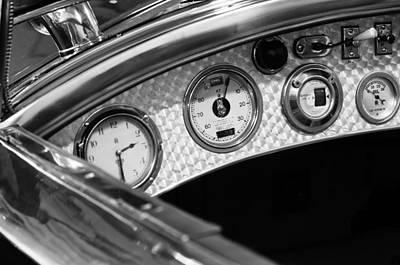 1927 Rolls-royce Phantom I Tourer Dashboard Gauges Print by Jill Reger