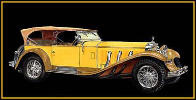 Convertible Painting - 1930 Mercedes Benz Ss Tourer by Jack Pumphrey