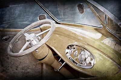 1932 Ford Roadster Steering Wheel Print by Jill Reger