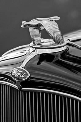 1932 Ford V8 Hood Ornament Print by Jill Reger