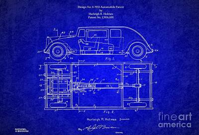 Historic Vehicle Mixed Media - 1932 Harleigh Holmes Automobile Patent by Doc Braham