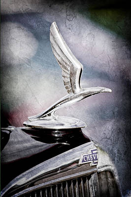 Chevrolet Master Photograph - 1933 Chevrolet Master Six Eagle Sedan Hood Ornament by Jill Reger