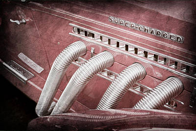 Charging Photograph - 1935 Auburn Side Pipes - Emblem by Jill Reger