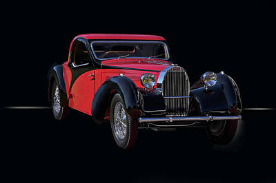 1937 Bugatti Type 57 Atalante Coupe Print by Dave Koontz