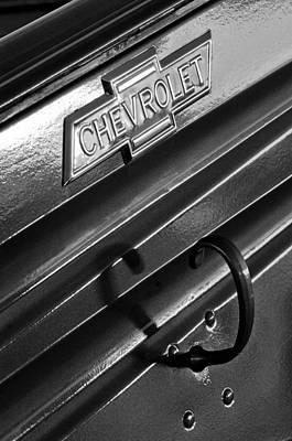1937 Chevrolet Custom Pickup Emblem Print by Jill Reger