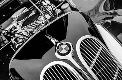 1938 Photograph - 1938 Bmw 327-8 Cabriolet Grille Emblem - Engine by Jill Reger