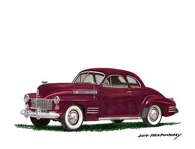 Expensive Painting - 1941 Cadillac 62 Coupe by Jack Pumphrey