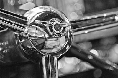 1947 Chrysler New Yorker Town And Country Convertible Steering Wheel Print by Jill Reger