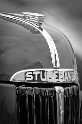 1947 Studebaker M5 Pickup Truck Grill Emblem - Hood Ornament Print by Jill Reger
