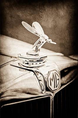 Midge Photograph - 1948 Mg Tc - The Midge Hood Ornament by Jill Reger