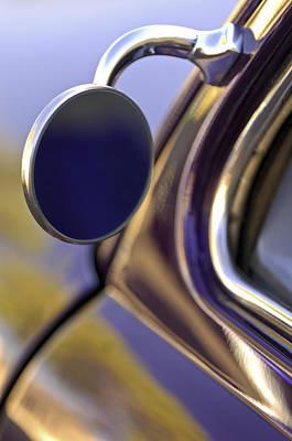 Custom Mirror Photograph - 1950 Mercury Custom Lead Sled Side Mirror by Jill Reger