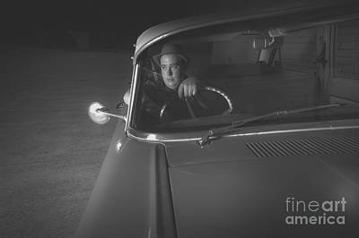 1950 Mobster Waiting In Vintage Car Print by Jorgo Photography - Wall Art Gallery