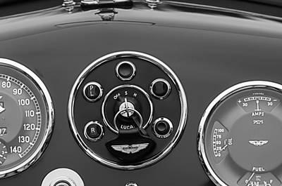 1953 Photograph - 1953 Aston Martin Db2-4 Bertone Roadster Instrument Panel by Jill Reger