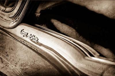 1954 Cadillac Coupe Deville Emblem Print by Jill Reger