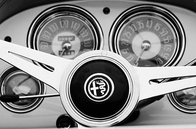 1900 Photograph - 1955 Alfa-romeo 1900 Css Ghia Aigle Cabriolet Steering Wheel by Jill Reger