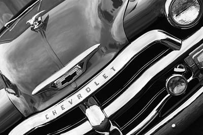 1955 Chevrolet 3100 Pickup Truck Grille Emblem Print by Jill Reger